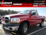2006 Inferno Red Crystal Pearl Dodge Ram 1500 ST Regular Cab #88255738
