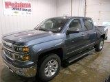 2014 Blue Granite Metallic Chevrolet Silverado 1500 LTZ Crew Cab 4x4 #88256010