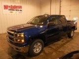 2014 Blue Topaz Metallic Chevrolet Silverado 1500 LT Crew Cab 4x4 #88256009