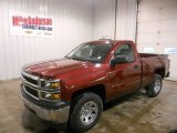 2014 Deep Ruby Metallic Chevrolet Silverado 1500 WT Regular Cab 4x4 #88256007