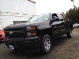 2014 Black Chevrolet Silverado 1500 WT Double Cab 4x4 #88283859