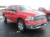 2014 Flame Red Ram 1500 Big Horn Crew Cab 4x4 #88310617