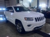 2014 Bright White Jeep Grand Cherokee Overland 4x4 #88310614