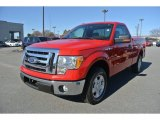 2010 Vermillion Red Ford F150 XLT Regular Cab #88349330