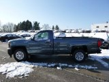 2014 Blue Granite Metallic Chevrolet Silverado 1500 WT Regular Cab 4x4 #88349403