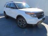 2014 White Platinum Ford Explorer Sport 4WD #88349199