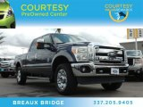 2012 Dark Blue Pearl Metallic Ford F250 Super Duty Lariat Crew Cab 4x4 #88406847