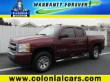2009 Dark Cherry Red Metallic Chevrolet Silverado 1500 LT Extended Cab 4x4 #88406900