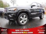 2014 Brilliant Black Crystal Pearl Jeep Grand Cherokee Overland #88442887