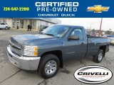 2012 Blue Granite Metallic Chevrolet Silverado 1500 LS Regular Cab 4x4 #88443183