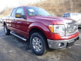 2013 Ruby Red Metallic Ford F150 XLT SuperCab 4x4 #88442843