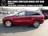 2014 Deep Cherry Red Crystal Pearl Jeep Grand Cherokee Overland 4x4 #88442814