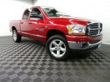 2006 Inferno Red Crystal Pearl Dodge Ram 1500 SLT Quad Cab 4x4 #88443163