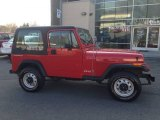 1992 Radiant Fire Red Jeep Wrangler S 4x4 #88442801