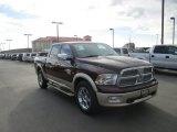 2012 Deep Molten Red Pearl Dodge Ram 1500 Laramie Longhorn Crew Cab 4x4 #88443199