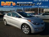 2013 Shimmering Air Silver Hyundai Elantra Limited #88443311