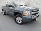 2009 Blue Granite Metallic Chevrolet Silverado 1500 LS Extended Cab 4x4 #88493833