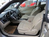 2014 Chrysler 200 Limited Convertible Black/Light Frost Beige Interior