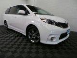 2012 Super White Toyota Sienna SE #88493908