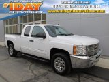 2012 Summit White Chevrolet Silverado 1500 LS Extended Cab 4x4 #88493568