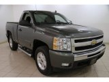 2011 Steel Green Metallic Chevrolet Silverado 1500 LT Regular Cab 4x4 #88493947