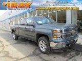 2014 Blue Granite Metallic Chevrolet Silverado 1500 LT Crew Cab 4x4 #88493549