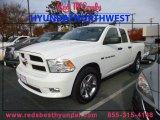 2012 Bright White Dodge Ram 1500 ST Quad Cab #88531725