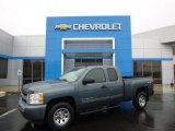 2011 Blue Granite Metallic Chevrolet Silverado 1500 LS Extended Cab 4x4 #88531913