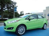 2014 Green Envy Ford Fiesta SE Sedan #88531773