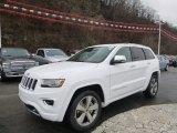 2014 Bright White Jeep Grand Cherokee Overland 4x4 #88577185