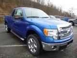 2014 Blue Flame Ford F150 XLT SuperCab 4x4 #88576920