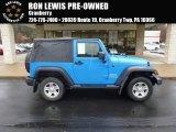 2011 Cosmos Blue Jeep Wrangler Sport 4x4 #88576896