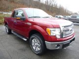 2013 Ruby Red Metallic Ford F150 XLT SuperCab 4x4 #88576927
