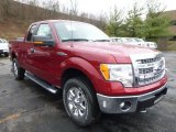 2013 Ruby Red Metallic Ford F150 XLT SuperCab 4x4 #88576925