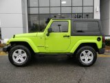 Gecko Green Jeep Wrangler in 2012