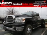 2009 Brilliant Black Crystal Pearl Dodge Ram 3500 Big Horn Edition Quad Cab 4x4 Dually #88636753