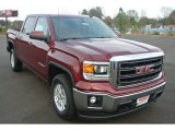 2014 Sonoma Red Metallic GMC Sierra 1500 SLE Crew Cab #88636915