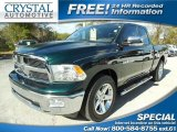 2011 Hunter Green Pearl Dodge Ram 1500 Big Horn Quad Cab #88658444