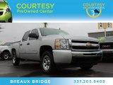 2011 Sheer Silver Metallic Chevrolet Silverado 1500 LS Crew Cab #88667122