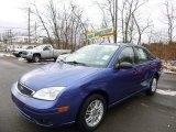 2005 French Blue Metallic Ford Focus ZX4 SE Sedan #88666976