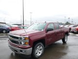 2014 Deep Ruby Metallic Chevrolet Silverado 1500 LTZ Z71 Double Cab 4x4 #88666970
