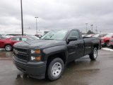 2014 Black Chevrolet Silverado 1500 WT Regular Cab 4x4 #88666969