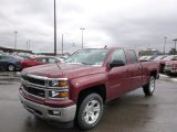 2014 Deep Ruby Metallic Chevrolet Silverado 1500 LTZ Z71 Double Cab 4x4 #88666968