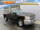 2012 Black Chevrolet Silverado 1500 LS Regular Cab 4x4 #88666906