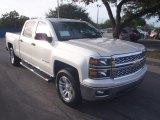 2014 White Diamond Tricoat Chevrolet Silverado 1500 LT Crew Cab #88693446