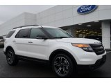 2014 White Platinum Ford Explorer Sport 4WD #88693107
