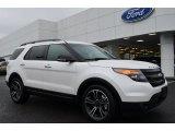 2014 White Platinum Ford Explorer Sport 4WD #88693107