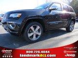 2014 Brilliant Black Crystal Pearl Jeep Grand Cherokee Overland #88724689