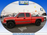 2007 Victory Red Chevrolet Silverado 1500 Classic LS Extended Cab 4x4 #88770204