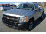 2012 Silver Ice Metallic Chevrolet Silverado 1500 Work Truck Regular Cab #88770165